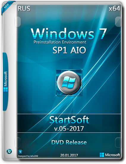 Windows 7 SP1 AIO x64 DVD Release By StartSoft v.05-2017 (RUS)