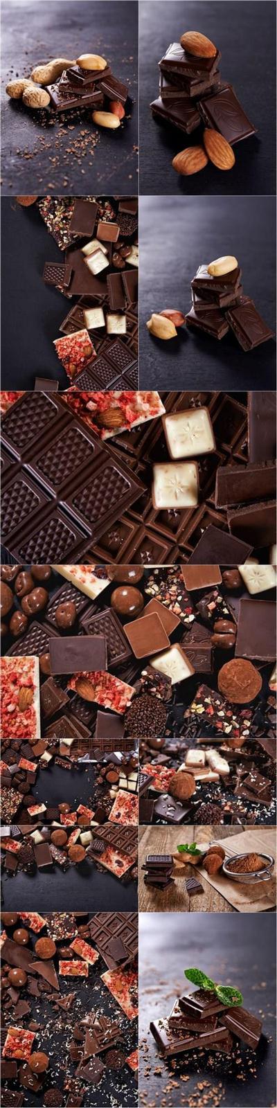 Chocolate Background - 12 UHQ JPEG Stock Images