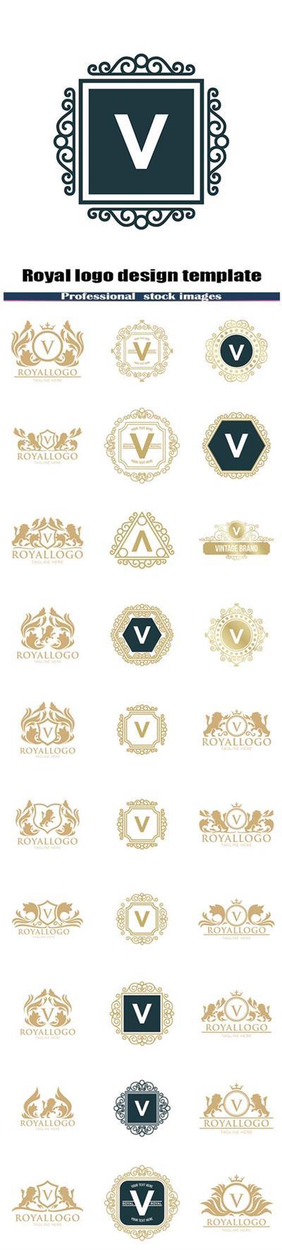 Royal logo design template
