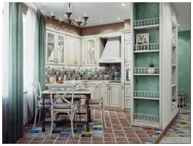 кухня, бежевый, воплощение, бежевого цвета, стиле прованс, отделке стен, бежевом цвете, глянец фасадах