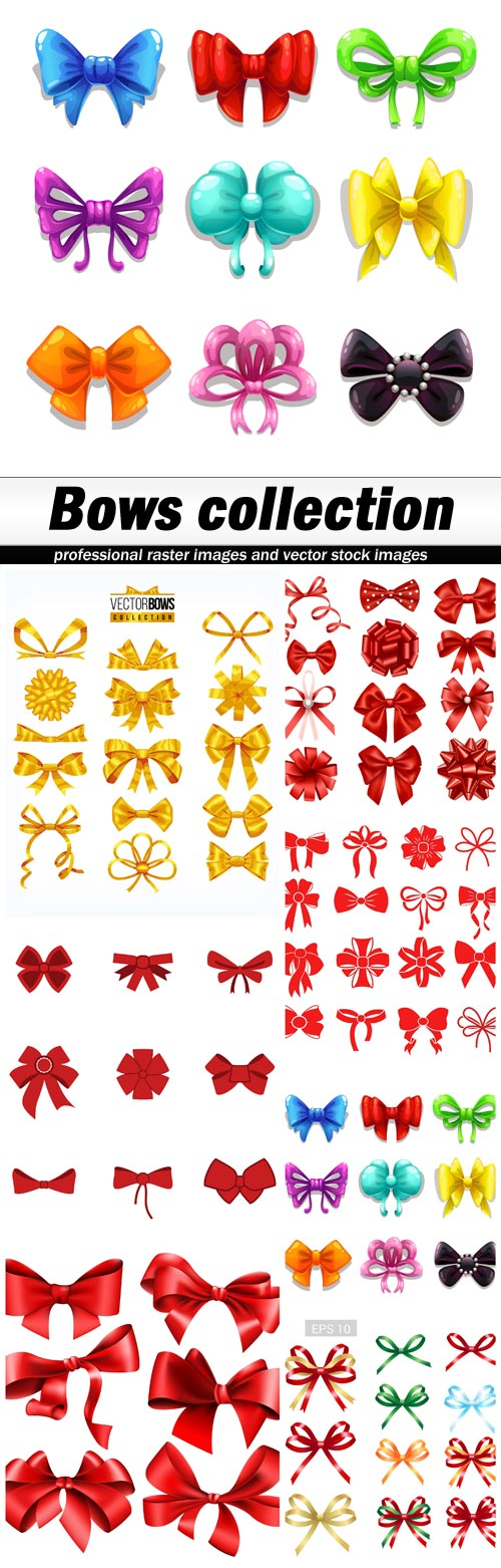 Bows collection - 7 EPS