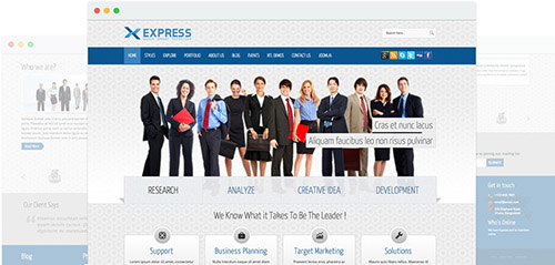 JoomShaper - Express v1.7 - Responsive Joomla Business Template