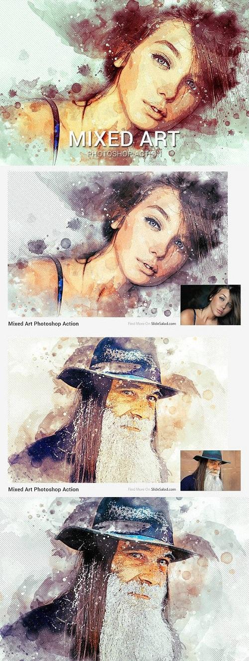 Mixed Art Photoshop Action 1880571