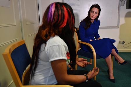 Кейт Миддлтон в детском психологическом центре имени Анны Фрейд
