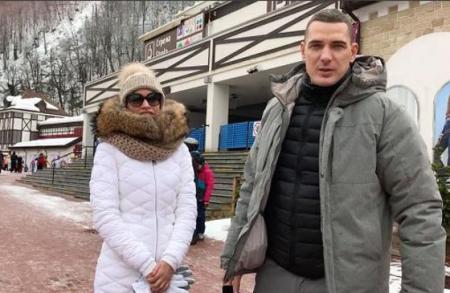 Ксения Бородина и Курбан Омаров на Роза Хутор