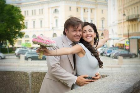 Любовь Тихомирова с мужем Ласло Долински