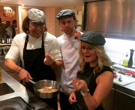 Андрей Малахов с женой на кулинарном шоу
