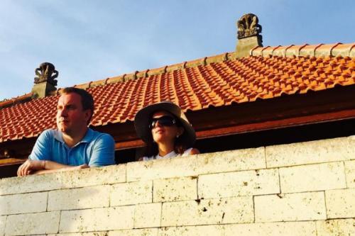 Диана Гурцкая с мужем на Бали