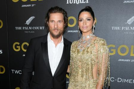 Блестящая пара: Мэттью МакКонахи и Камилла Алвес на премьере фильма
