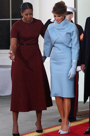 Мишель Обама и Мелания Трамп