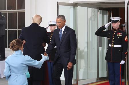 Мелания Трамп и Барак Обама