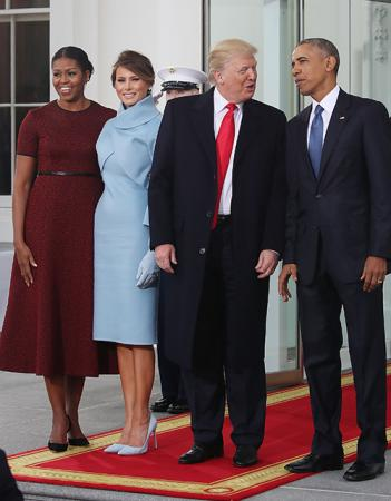Мишель Обама, Мелания и Дональд Трамп, Барак Обама