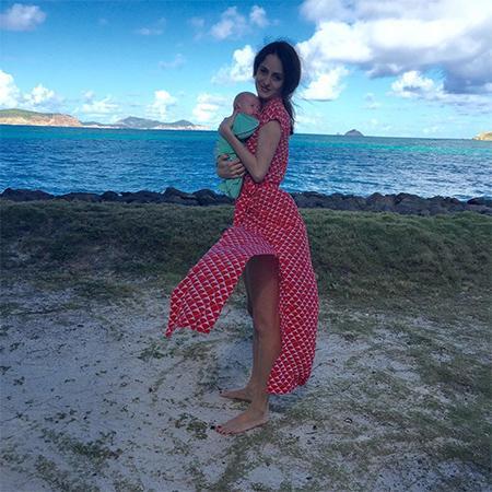 Мелани Хамрик с сыном