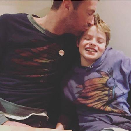 Крис Мартин с сыном