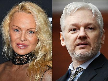 СМИ: Памела Андерсон закрутила роман с основателем WikiLeaks Джулианом Ассанжем