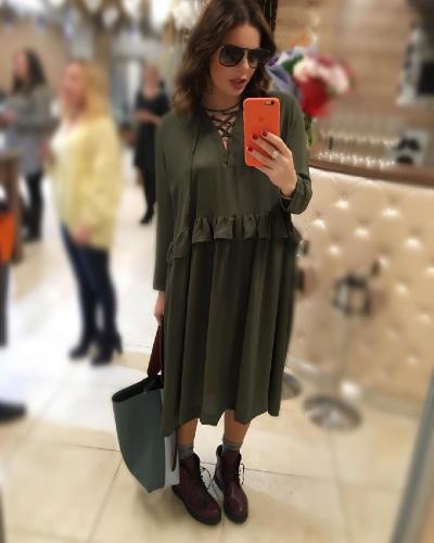 Беременная Анастасия Стоцкая шутит насчет лишнего веса