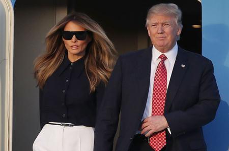 Дональд, Мелания и Иванка Трамп с мужем и детьми прилетели во Флориду