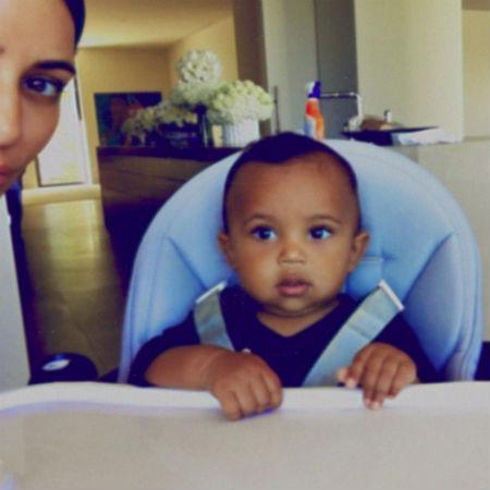 Ким Кардашьян с сыном Сейнтом