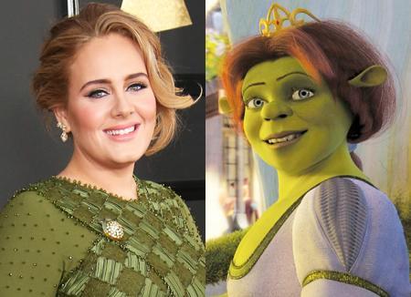 Адель ответила на свое сравнение с принцессой Фионой