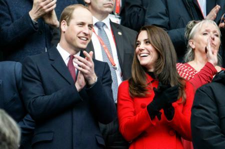 Двухдневный визит в Париж: Кейт Миддлтон и принц Уильям посетили матч по регби Франция – Уэльс