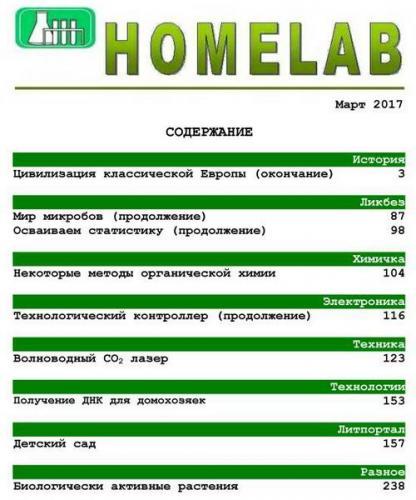 Домашняя лаборатория №3 (март 2017)