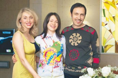 Николай Носков вместе с женой и дочерью