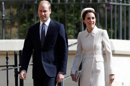 Принц Уильям и Кейт Миддлтон на Пасхальном богослужении в Виндзоре