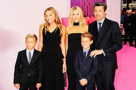 Патрик Демпси с супругой Джиллиан и детьми