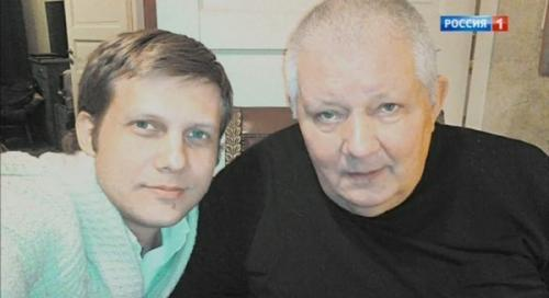 Борис Корчевников с отцом Вячеславом Орловым