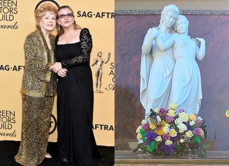 Вместе навсегда: Дебби Рейнольдс и Кэрри Фишер увековечены в мраморе