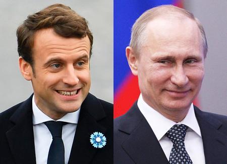 Владимир Путин поздравил Эммануэля Макрона с победой на президентских выборах