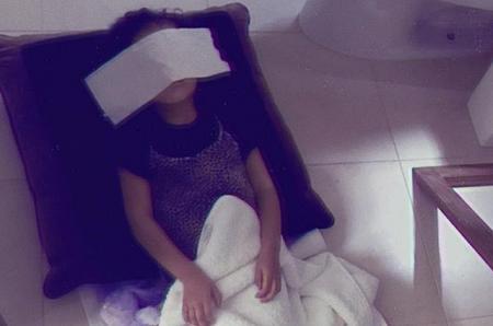 Дочь Ким Кардашьян и Канье Уэста устроила спа-салон на дому