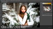 Цветокоррекция зимней фотографии в photoshop (2017)
