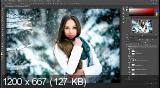 Цветокоррекция зимней фотографии в photoshop (2017) HDRip