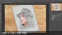 Создание рисунка. Effect sketch photoshop (2017)
