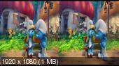 Смурфики: Затерянная деревня 3D / Smurfs: The Lost Village 3D (Лицензия) Горизонтальная анаморфная стереопара.