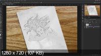 3D Рисунок в фотошоп (Sketch Drawing Effect) (2017)