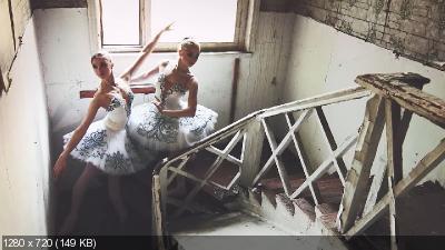 Фотосессия с балеринами в заброшенных усадьбах (2017)