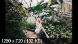 Фотосессия в оранжерее ботанического сада. Shooting in Botanical garden (2017) HDRip