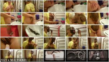 Amateur (Brown wife) Shit in the sink [FullHD 1080p] Solo, Boobs