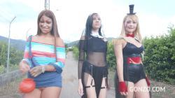 Halloween Orgy with Natasha Teen, Emily Pink Laura Monroy big gapes, intense anal DP SZ2312 / 31.10.2019 [1080p]